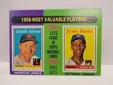 1975 Topps MVP Jackie Jensen and Ernie Banks Card # 196 Rede Sox and Cubs
