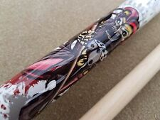 NEW Players Pool Cue D-JS 'Killer Jester' / Skulls Mz Grip, FREE Predator Chalk!