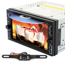 "Double 2 Din 6.2"" Car DVD CD Player Touch Screen In Dash Stereo Radio+New Camera"