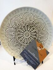 "ISLAND LIVING Melamine GRAY MEDALLION 9"" Salad Plates set of 4 outdoor plates"