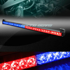 "35.5"" RED/BLUE LED TRAFFIC ADVISOR EMERGENCY WARN FLASH STROBE LIGHT UNIVERSAL 9"
