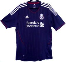 "EX! Liverpool FC 2011/2012 Away Shirt Black L Large 42"" - 44"" Trikot Camiseta"