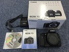 Great Condition EOS Canon 7D 18.0 MP Shutter Count BODY ONLY Camera 02102066186