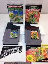Teenage Mutant Ninja Turtles & Arcade II Nintendo NES Complete w/ Box CIB TMNT