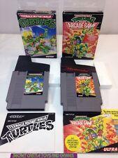 Teenage Mutant Ninja Turtles & Arcade II Nintendo NES Complete w/ Box CIB TMNT