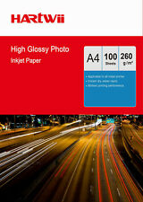 100 Sheets A4 260 Gsm High Glossy Photo Paper  Inkjet Paper Printer Hartwii UK