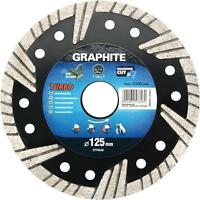 Graphite turbo angle grinder diamond disc blade tile 115, 125, 180, 200 &230 mm