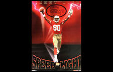 Vintage JERRY RICE SPEED OF SOUND San Francisco 49ers Costacos Bros 1991 POSTER