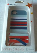 IPHONE 4/S GRIFFIN SNAPPY STRIPES CASE (1st class p+p)