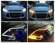 2 x 60cm LED Audi Type Flexible Strip DRL Dual -White & Amber For Maruti Swift