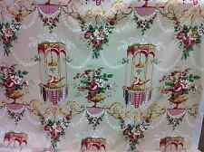 "A.L.DIAMENT & CO UK HANDPRINT FABRIC Chintz Asian LOUIS XVI CABLE DOVES"" BEAUTY!"