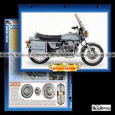 #024.05 Fiche Moto GUZZI V 1000 CONVERT 1975-84 Motorcycle Card