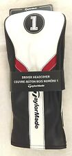 TAYLORMADE TM17 Driver Headcover Men's Golf Accessory NEW Black Red White