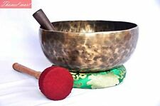 "10"" Root and Om Chakra Anitque Hand Hammered Tibetan Singing Bowl by Thamel Mart"