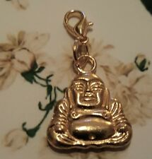 Gold Buddha Compassion Love Clip on Charm / Pendant Fit Necklace Bracelet Locket