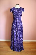 JCrew Collection Dauphine Gown 2 Long Dress Purple Multi E1736 $450 RARE