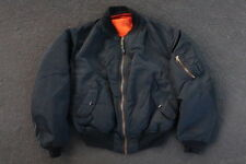 Vintage Alpha Industries MA-1 Flight Jacket Size L M Made in USA Black 90s 00s