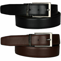 New Mens Reversible Genuine 100% Real Leather Belt Black Brown Belts Waist Jeans