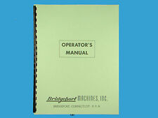 Bridgeport 1hp Round Ram Early Milling Machine Operators & Parts List Manual 151