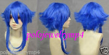New Cosplay Vocaloid Gumi Medium Party Blue Reflex Action Heat Resistant Wig