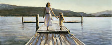 """Steve Hanks, (1949-2015), Time With Mom"""", open edition print, Hand-Signed"""