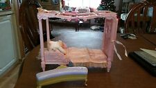 Barbie Doll Princess Bed With Sound & Vanity Chair