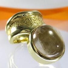 A708 única rutilquarz rutilated anillo 925 plata joyas de oro vergodet Handmade