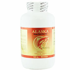 Alaska Deep Sea Omega-3 Fish Oil 300 Softgels EPA DHA FRESH Made In USA