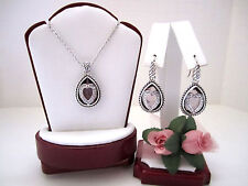 """Brighton """"COURAGEOUS HEART"""" Necklace-Earring Set (MSR$144) NWT/Pouch"""