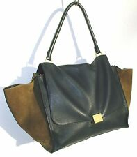CÉLINE Bicolor Trapeze Large 34 cm schwarz-khaki  +Dustbag +Carebook +ID-Label