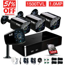 ELEC® Wired Outdoor Surveillance Security System 1500TVL 8CH 960H HDMI CCTV DVR