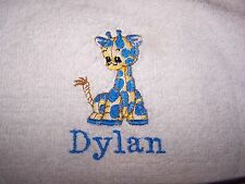 """""""PERSONALIZED EMBROIDERED BABY BOY GIRAFFE  HOODED BATH TOWEL""""100% COTTON"""