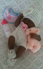Berenguer  beautiful baby black girl doll Anatomically correct  play / reborn