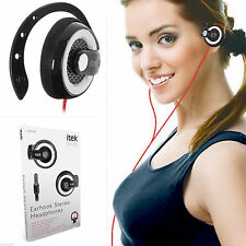 iTek Clip-On Gym Sport Sweatproof Stereo MP3 4 Headphone On Ear hook Earphones