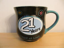 NEW Encore Papel Giftware 21 Years Celebration Cup Mug