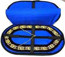 DEURA TOP Quality Masonic Regalia Collar SOFT CASE Hold 2 COLLARS PADDED BAG