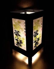 Thai Vintage Handmade ASIAN Oriental Japanese Bamboo Trees Bedside Table Lamps