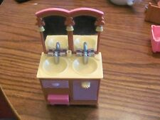 Fisher Price/Mattel doll house sink & vanity 2000s