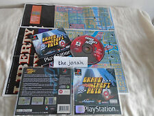 Grand Theft Auto PS1 (COMPLETE WITH MAPS) GTA Sony Playstation black label rare
