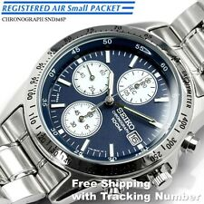 SEIKO SND365 SND365P Chronograph Tachymeter 100m Blue New Men's Watch Japan F/S