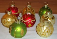 Glass Ball Table Place Holders Christmas Ornaments or Photo Holders set of 8