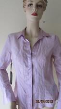 NWT BEBE MIDTOWN MIXED SILK SLIT BACK BUTTON DOWN SHIRT TOP SIZE XS