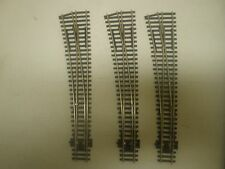 3 PECO CURVED LH NICKLE/SILVER SWITCH TURNOUTS HO SCALE  (LOT 247)