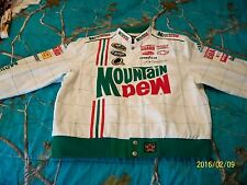 DALE EARNHARDT, JR. WHITE AMP / MT. DEW AUTHENTIC RACING JACKET - YOUTH (13/14)