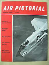 AIR PICTORIAL MAGAZINE AUGUST 1960 CHANCE VOUGHT F8U-2N CRUSADER