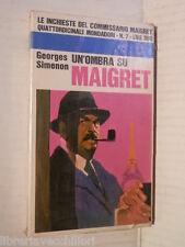 UN OMBRA SU MAIGRET Georges Simenon Mondadori Le inchieste del commissario 1966