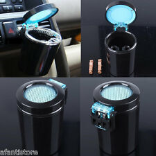 Portable Car LED Light Ashtray Auto Travel Cigarette Ash Holder Cup Black