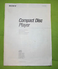 Sony COMPACT DISC PLAYER cdp-491, 295,m41 e m21 manuale d'uso Engl.