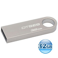 KINGSTON 32GB 32G Data Traveler DT SE9 USB Flash Pen Key Ring Drive Memory Stick