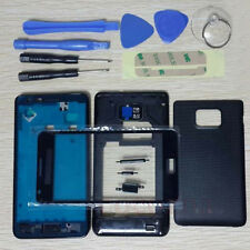 Housing Case + Glass Screen + Tools + Adhesive For Samsung Galaxy S2 i9100 Black